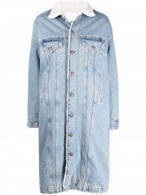 Синяя хлопковая джинсовая куртка R13