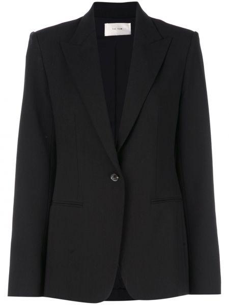 Однобортный черный пиджак с карманами The Row