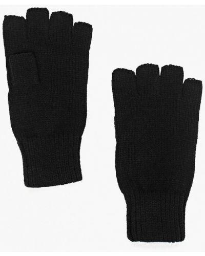 Перчатки митенки черные Topman