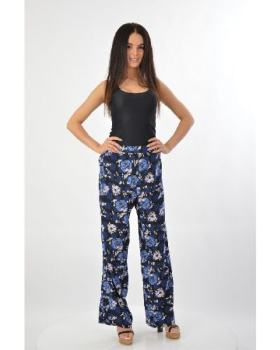 Шелковые брюки - синие Poustovit