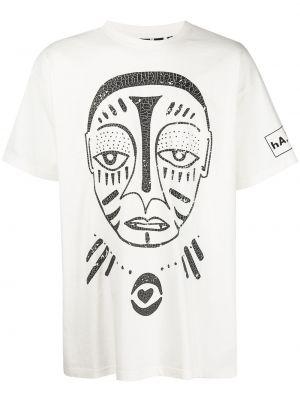 Белая прямая футболка Haculla
