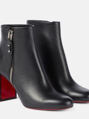 Черные кожаные ботинки Christian Louboutin