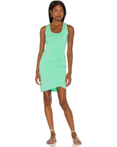 Zielona sukienka mini bawełniana Bobi