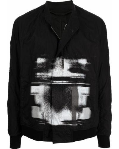 Czarna kurtka z printem Julius