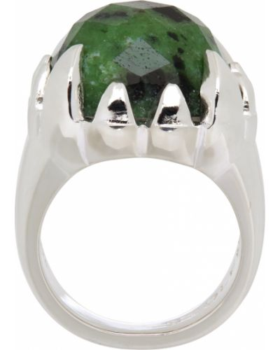 Zielony pierścionek srebrny Stolen Girlfriends Club