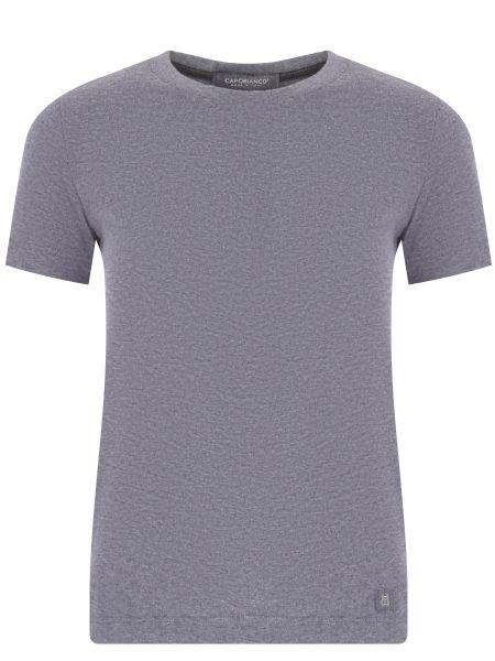 Хлопковая футбольная серая футболка с круглым вырезом Capobianco