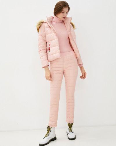 Костюмный хлопковый розовый теплый комбинезон Fresh Cotton