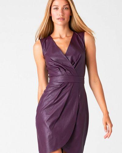 Фиолетовое кожаное платье Love Republic