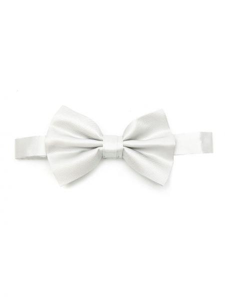 Biały krawat z jedwabiu Emporio Armani