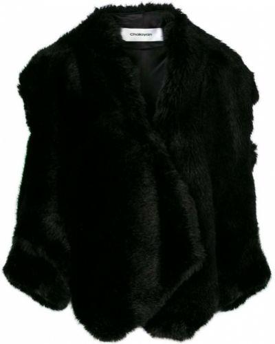 Черная куртка с открытыми плечами Chalayan