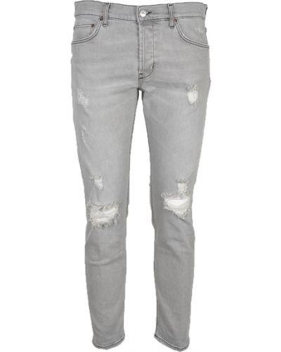 Szare mom jeans Aglini