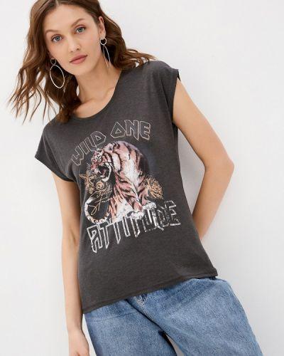 Серая футболка с короткими рукавами Haily's