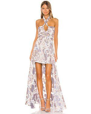 Вечернее платье с вышивкой с декольте на бретелях на молнии Alexis