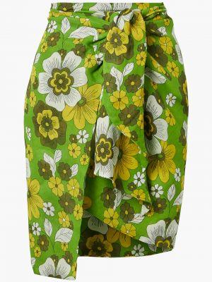 Ватная хлопковая зеленая юбка мини Dodo Bar Or