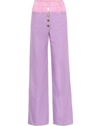 Фиолетовые широкие джинсы Rejina Pyo