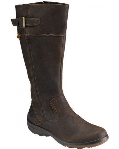 Зимние ботинки кожаные на каблуке Ecco