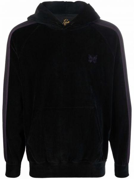 Czarny sweter bawełniany Needles