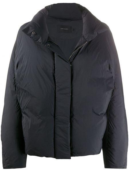 Пуховая черная стеганая длинная куртка Low Classic
