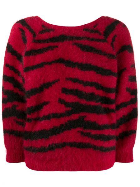 С рукавами красный свитер из ангоры с вырезом Ba&sh