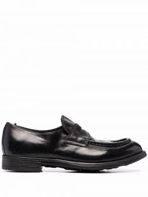 Loafers na obcasie - czarne Officine Creative