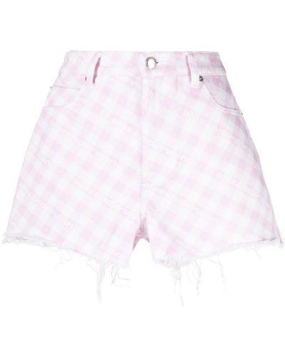 Джинсовые шорты на молнии - белые Alexander Wang