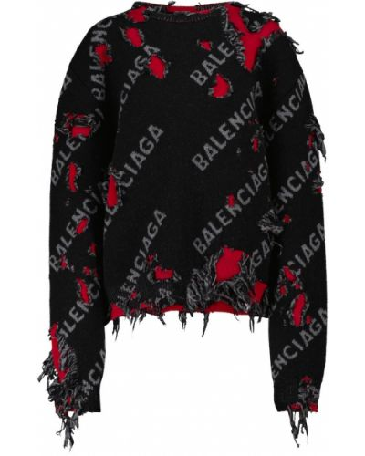 Шерстяной свитер - черный Balenciaga