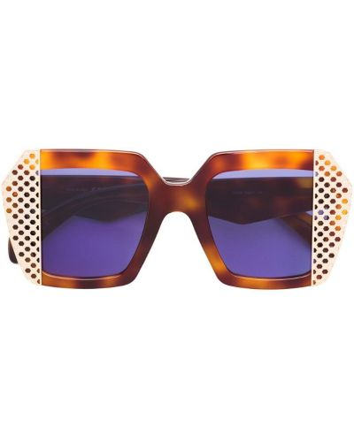 Солнцезащитные очки коричневый хаки Oxydo