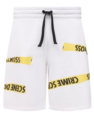 Хлопковые белые шорты Diego Venturino