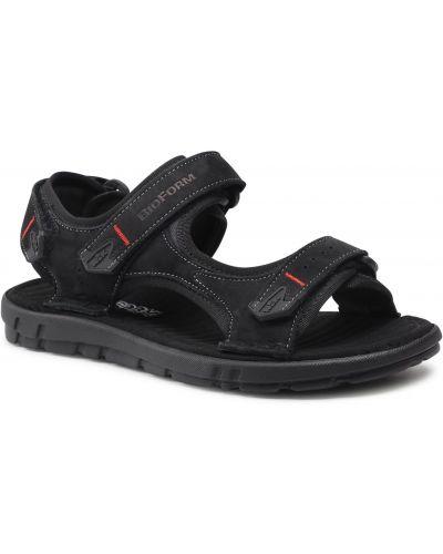Czarne sandały na lato Nik