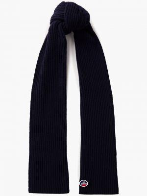 Prążkowany niebieski z kaszmiru szalik Fusalp