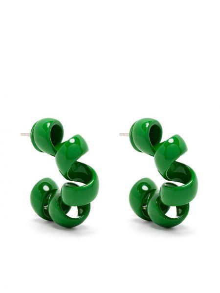 Zielone kolczyki sztyfty Bottega Veneta