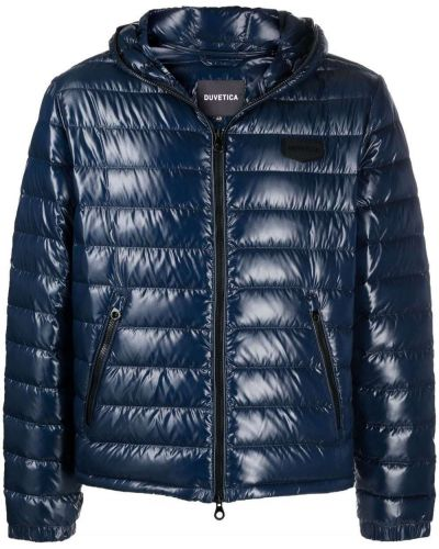 Синяя куртка с заплатками Duvetica