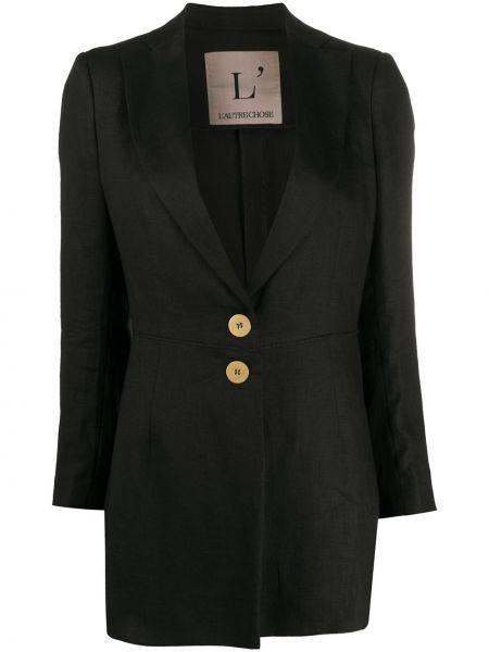 Однобортный черный пиджак на пуговицах L'autre Chose