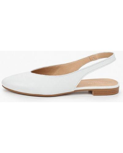 Кожаные белые туфли с открытой пяткой Pazolini