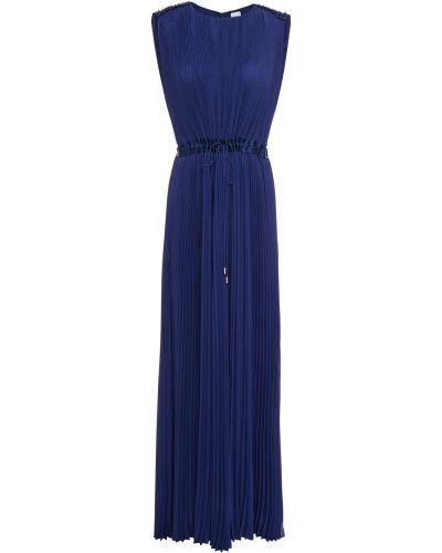 Платье макси атласное - синее Paul Smith