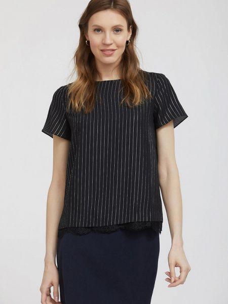 Блузка с коротким рукавом черная весенний Calista