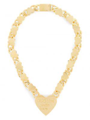 Золотистое ожерелье золотое с декоративной отделкой Natasha Zinko