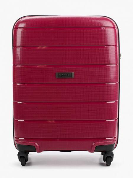 Розовый чемодан Fabretti