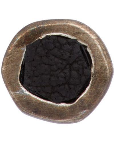 Czarne srebrne kolczyki srebrne Guidi