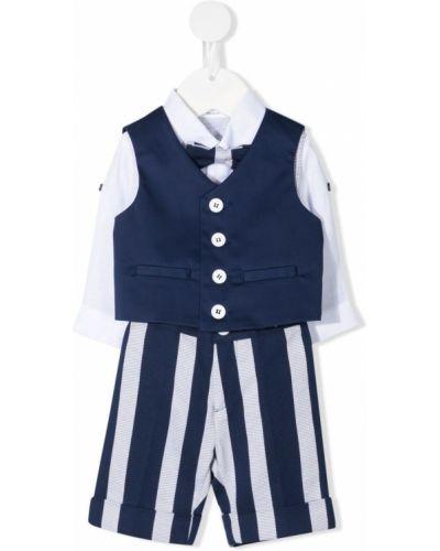 Klasyczny biały garnitur bawełniany Marcelo Burlon County Of Milan Kids