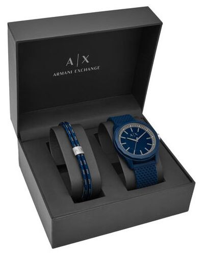 Zegarek - granatowy Armani Exchange
