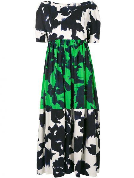 Шелковое платье - белое Delpozo