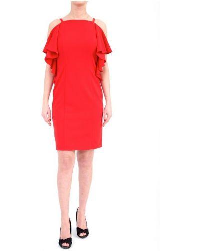 Czerwona sukienka krótki rękaw Joseph Ribkoff