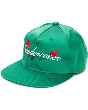 Zielona czapka z haftem bawełniana Undercover