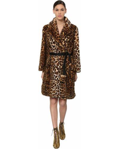 Пальто из искусственного меха с карманами с лацканами Marc Jacobs