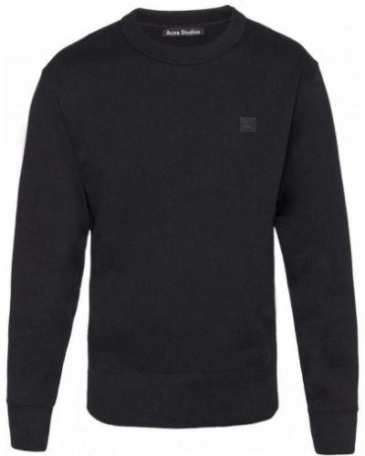 Czarna bluza z długimi rękawami bawełniana Acne Studios