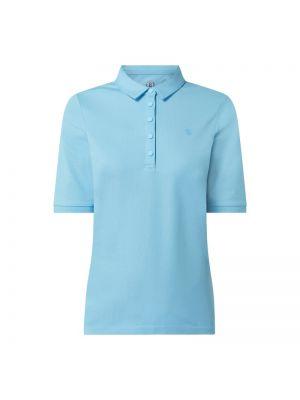 T-shirt bawełniana - turkusowa Bogner