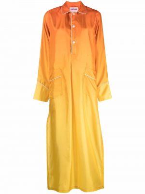 Шелковая рубашка - оранжевая F.r.s. For Restless Sleepers