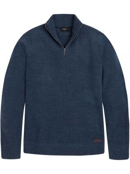 Пуловер с воротником-стойка на молнии Pepe Jeans