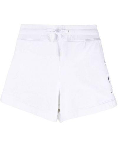 С завышенной талией хлопковые белые джинсовые шорты Calvin Klein Jeans